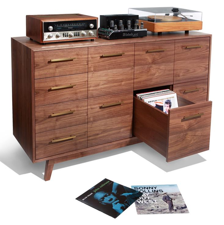 Bon ... Storage Rack Offers Three Pockets For Storing And Displaying Your Vinyl.  Itu0027s A Relatively Space Efficient Option And The Retro Design Would Look  Good ...