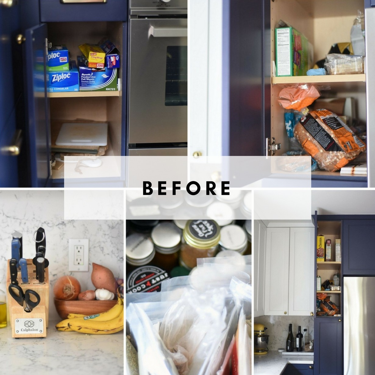 Deep Shelf Pantry and Kitchen Organization