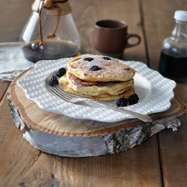 Berry-Ricotta Pancakes from Pancakes by Adrianna Adarme