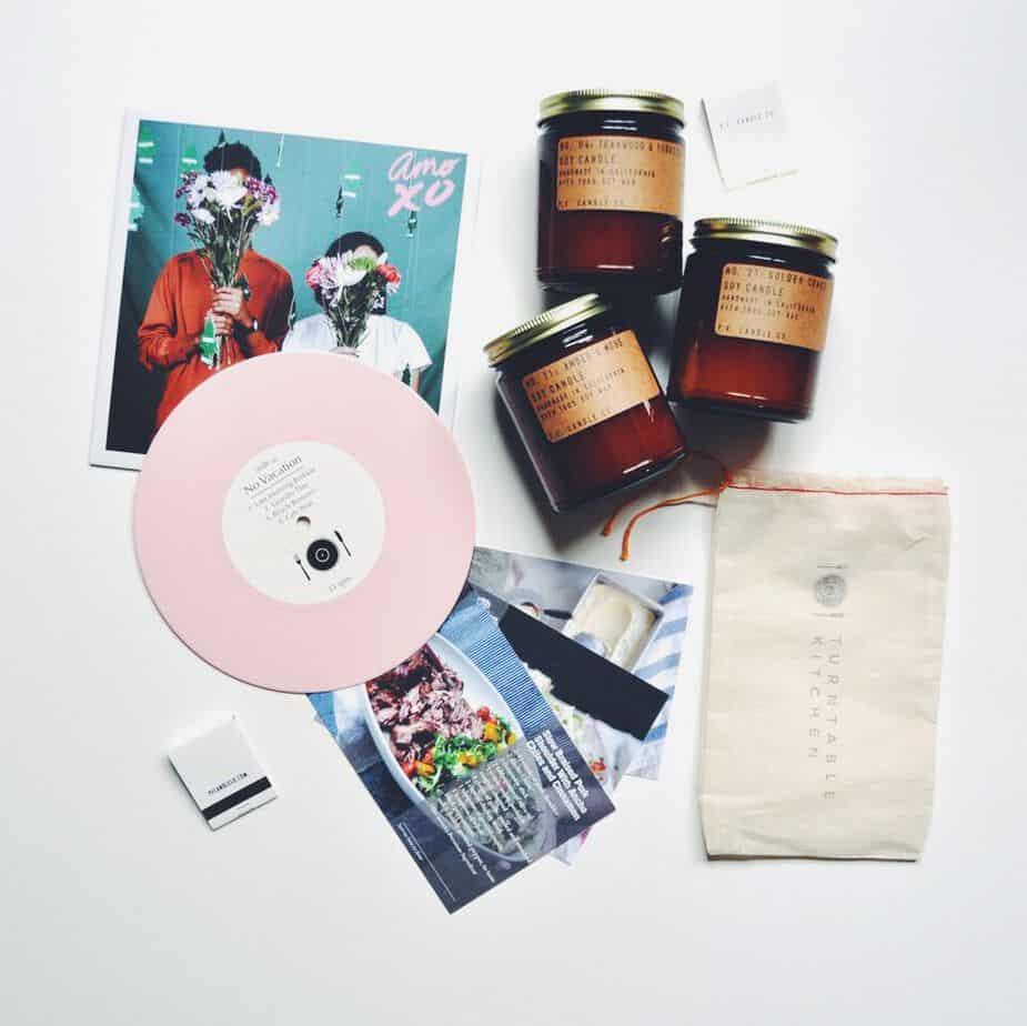 Turntable Kitchen: Candle + Vinyl Pairing