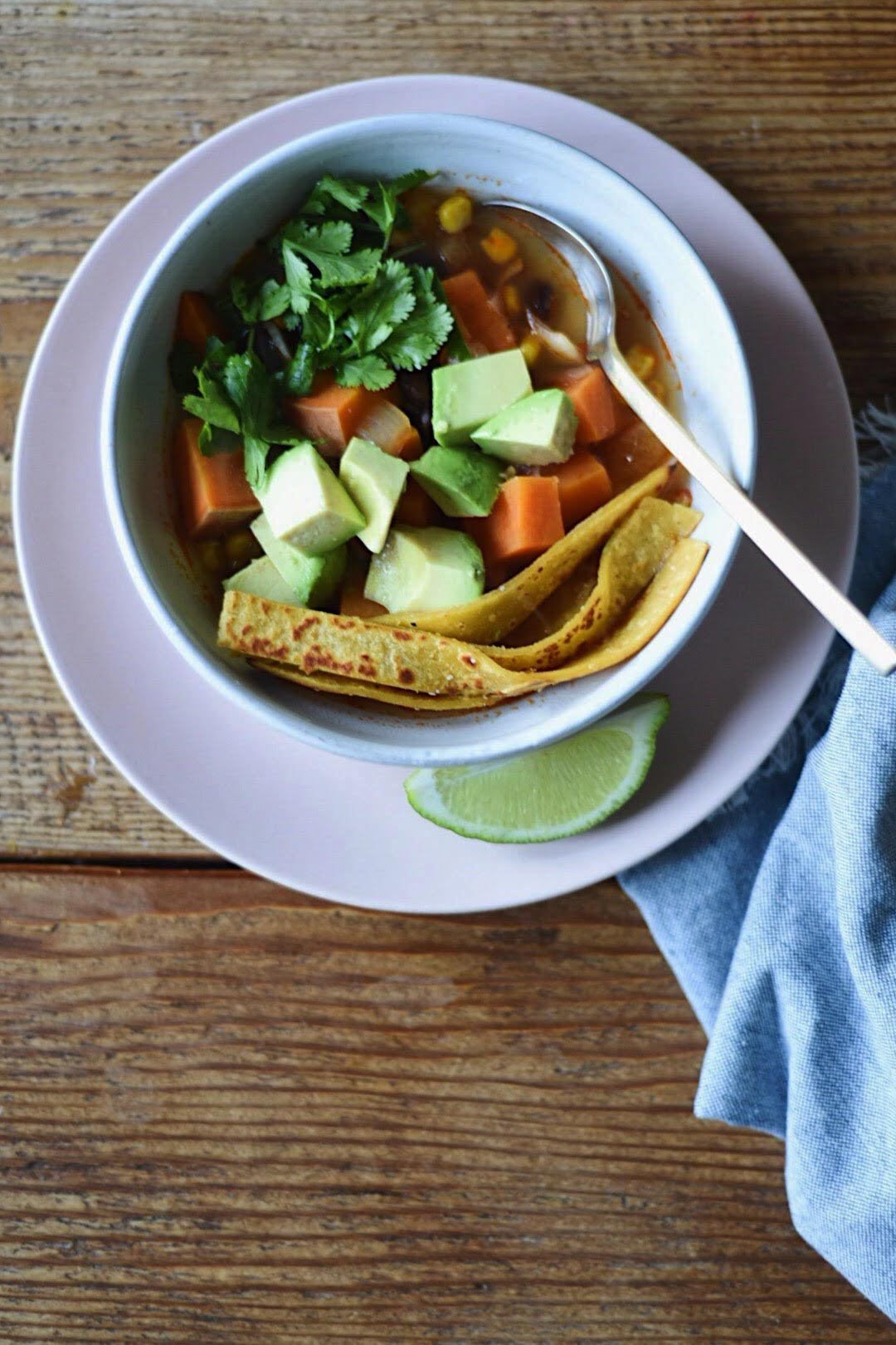 Chipotle Tortilla Soup Recipe from The Minimalist Kitchen