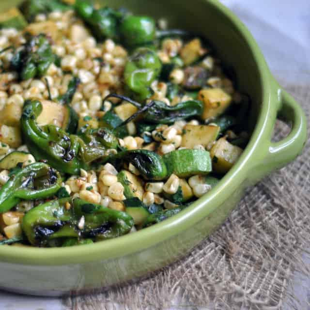 What is a recipe that uses Padron peppers?