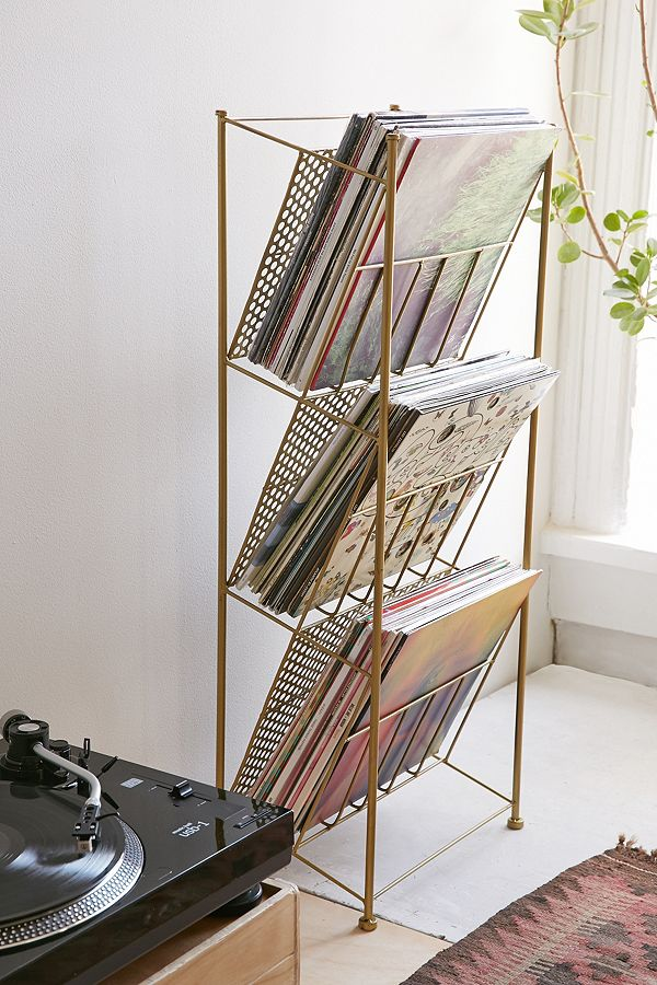 ... To Make Your Vinyl Collection A Focal Point In Your Home. It Boasts A  Mango Wood Shelf And Thin Copper Legs. Itu0027s $649 From CB2 And So, So Pretty.