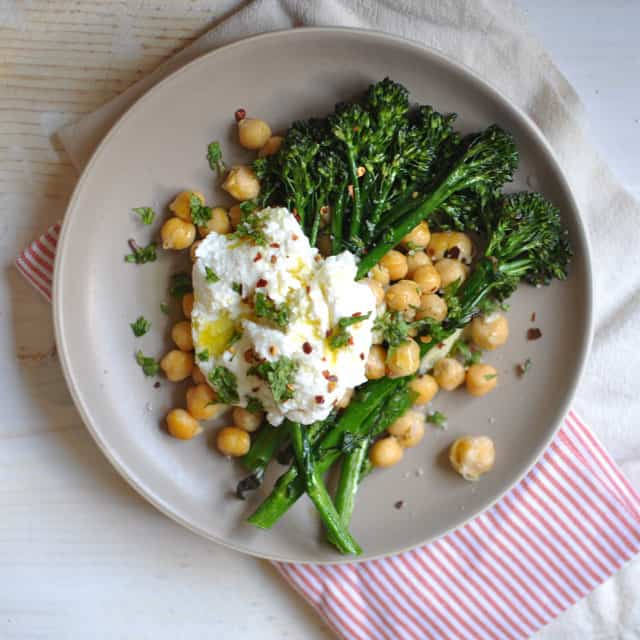 Crispy Broccolini Chickpea and Ricotta Salad1 Where I Hardly Go Anymore
