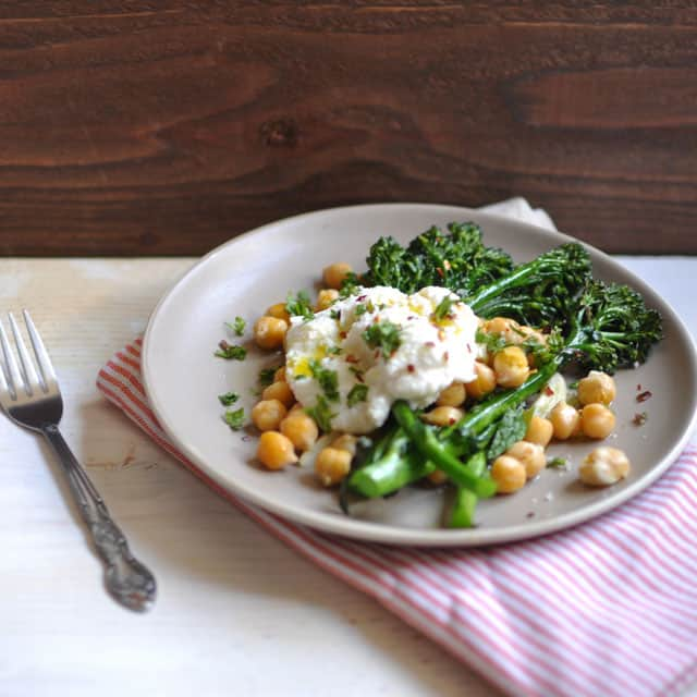 Crispy Broccolini Chickpea and Ricotta Salad2 Where I Hardly Go Anymore