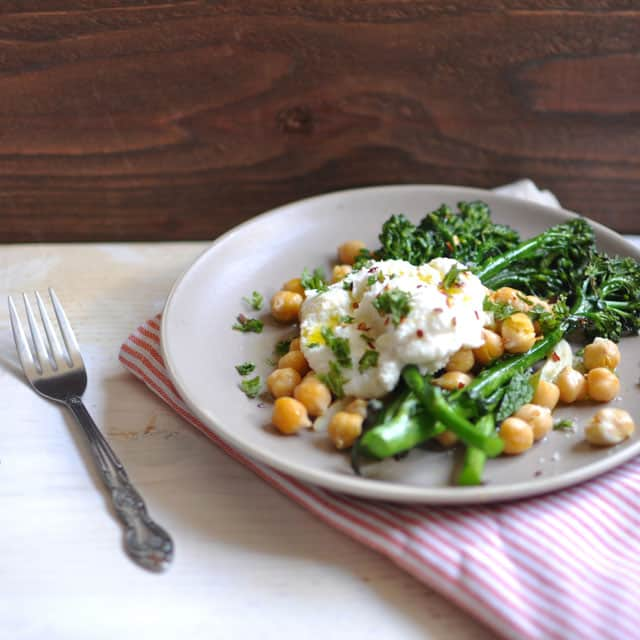 Crispy Broccolini Chickpea and Ricotta Salad3 Where I Hardly Go Anymore