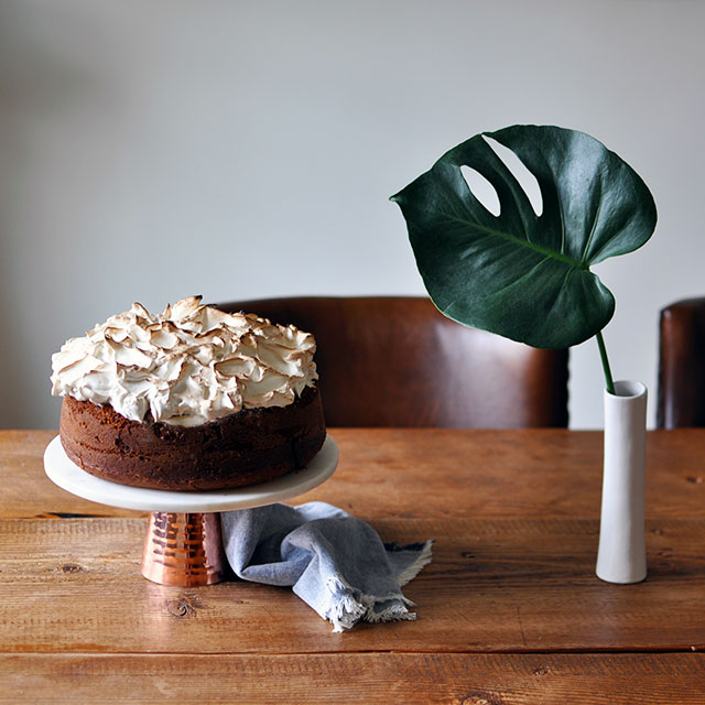 Pumpkin Chocolate Cake With Soft Merengue