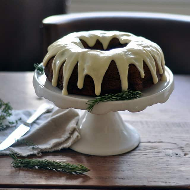 Pumpkin Spice Bundt Cake with Maple Cream Cheese Icing