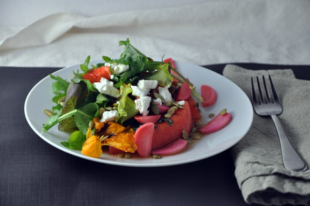 Grilled Watermelon Salad And Pickled Radishes Recipes — Dishmaps