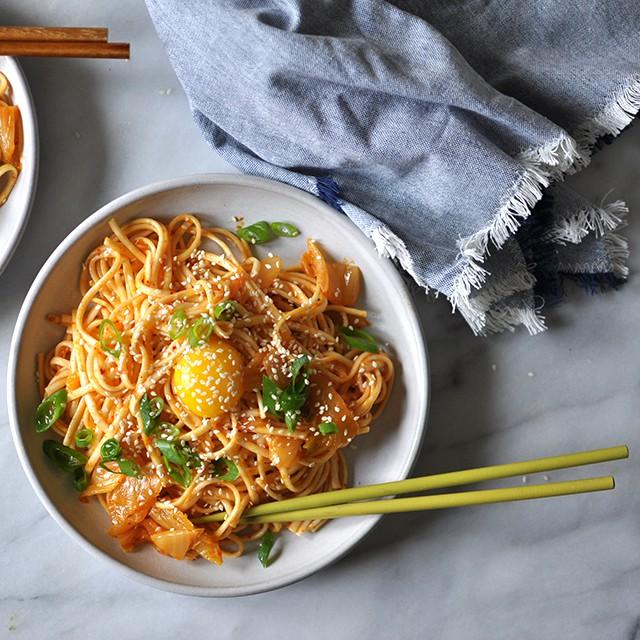 Buttery Kimchi Udon Recipe