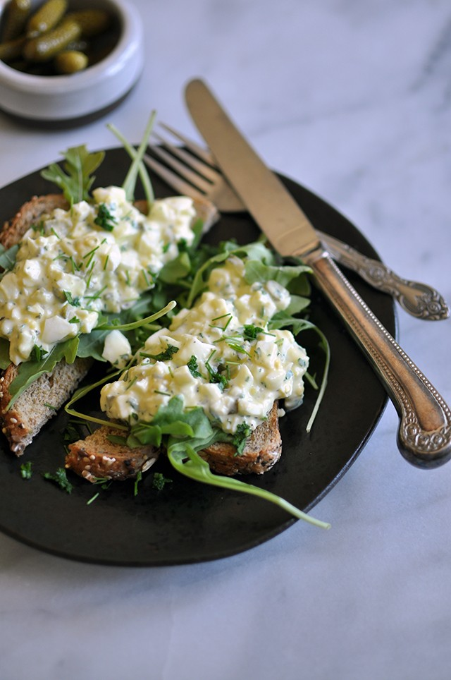 Pickle-y Egg Salad Toast