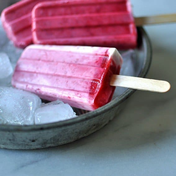How to Make Popsicles: Raspberries & Cream