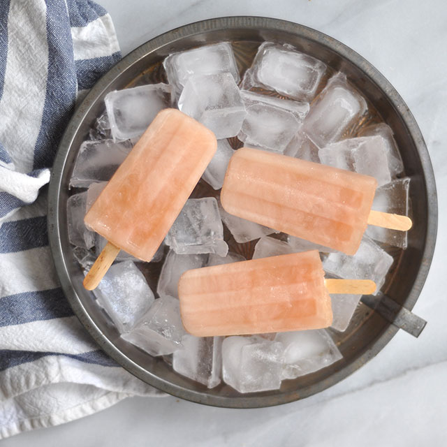 Three Ingredient Grapefruit Popsicles/ Paletas