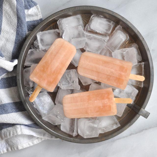 Three Ingredient Grapefruit Popsicles/ Paletas