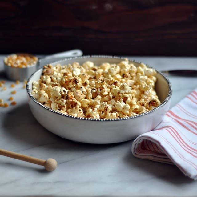 Spicy-Sweet Shichimi Togarashi Popcorn - Turntable Kitchen
