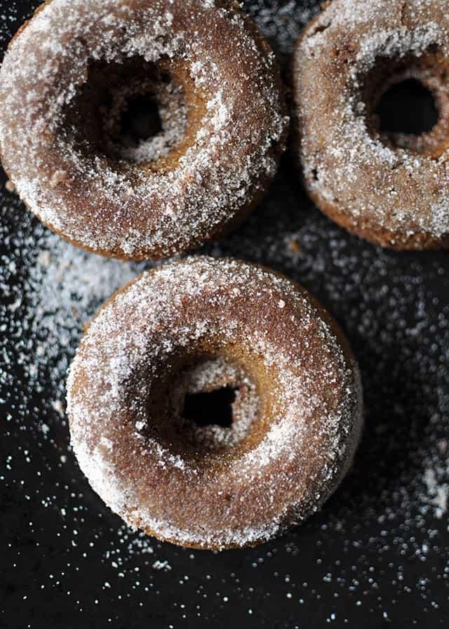Baked Applesauce Molasses Donuts
