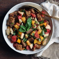 Peach and Tomato Panzanella
