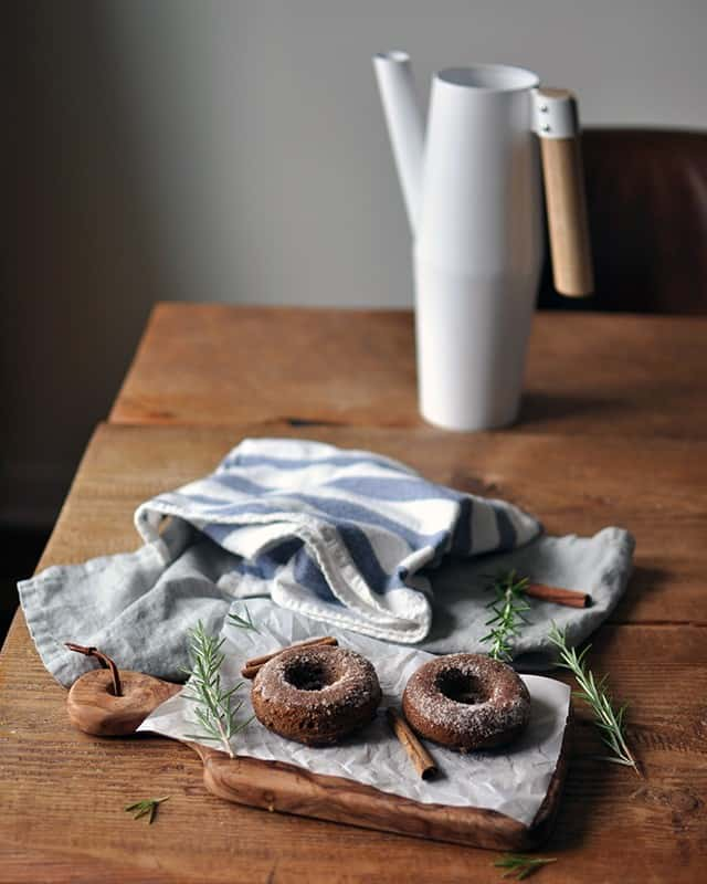 Baked Applesauce Molasses Donuts