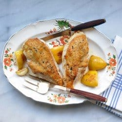 Pan-Roasted Lemon- Fennel Chicken