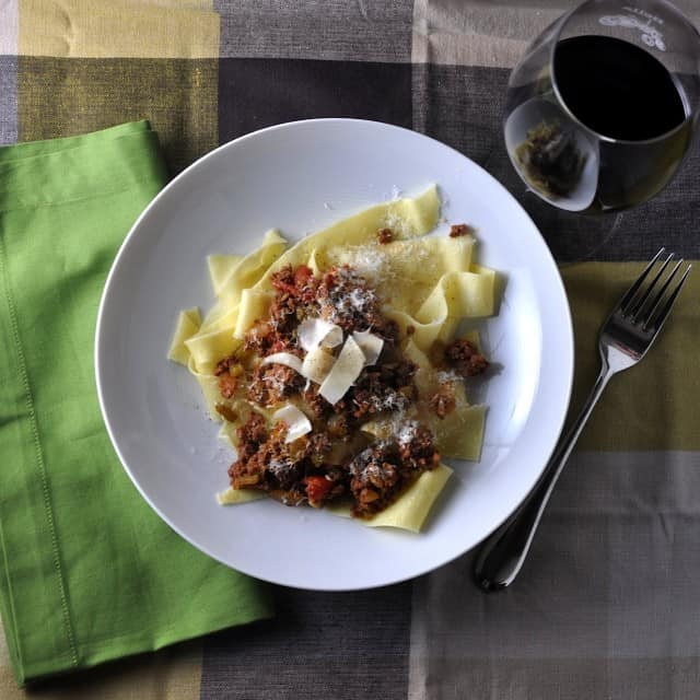 DSC 0365 3 640x640 On Food, Memories and Family: Pappardelle with Bison Ragu (Kitchen Takeover by Matthew)
