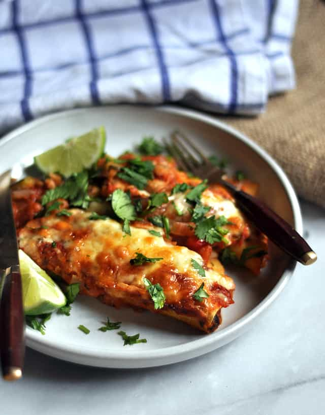Vegetarian Black Bean Enchiladas for Cinco de Mayo and Beyond