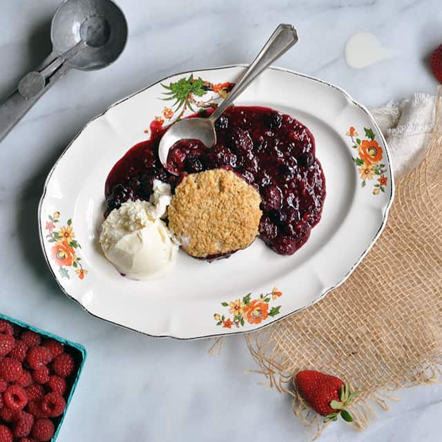 Berry Cobbler with Oat Dumplings