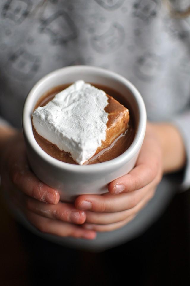 Hawaij Hot Chocolate recipe with giant marshmallow