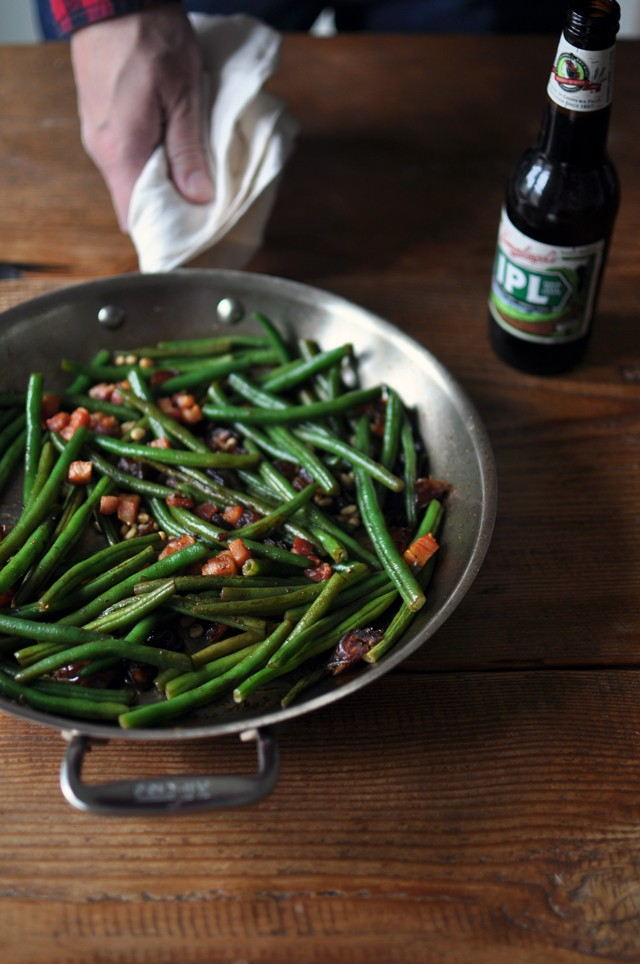 Green Beans with Dates and Pancetta