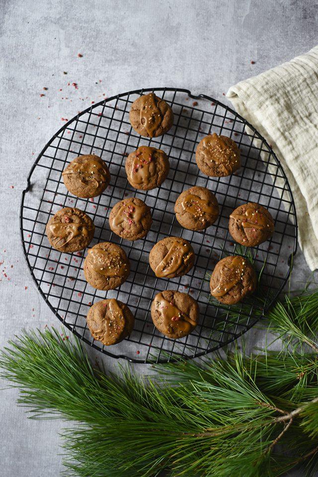 Soft Glazed Molasses Cookies