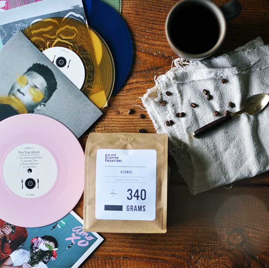 Curated Coffee Vinyl Pairing 16 month gifts Turntable Kitchen