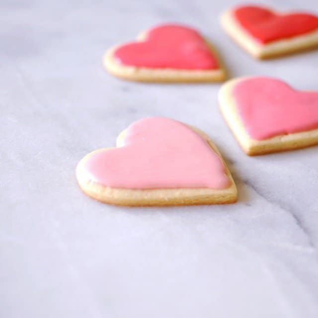 Frosted Heart Cookies