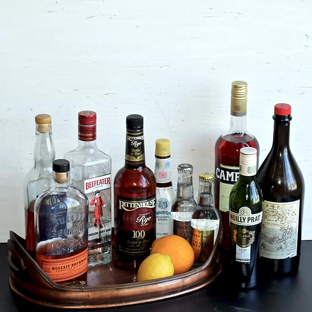 Home Bar: Building Your Bar, Part 1 - Alcohol & Mixers