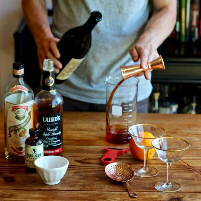 Home Bar: Fall in Manhattan