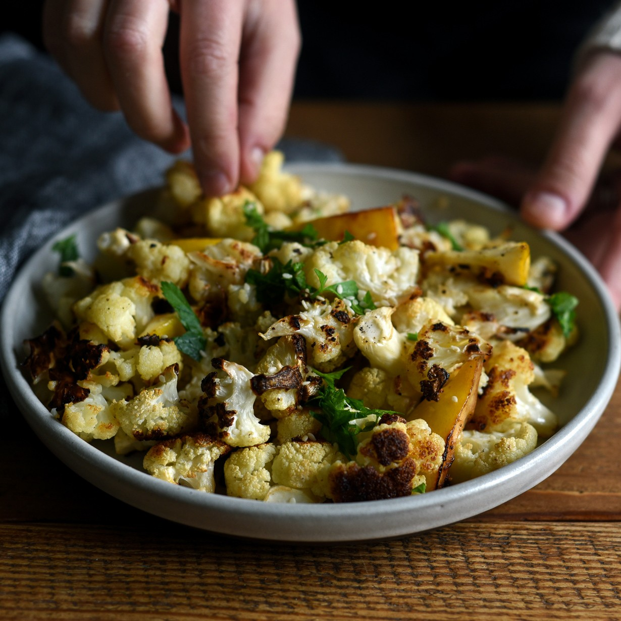 Lemon-Roasted Cauliflower