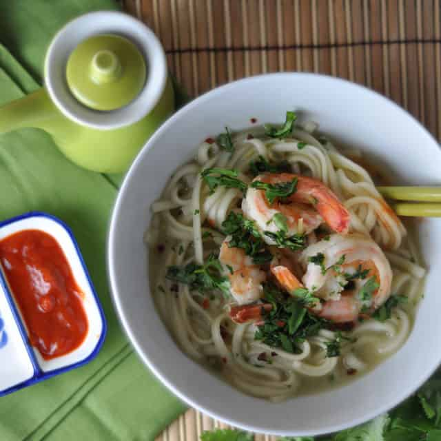 Soup Weather: Lemongrass Shrimp and Miso Udon Soup - Turntable Kitchen