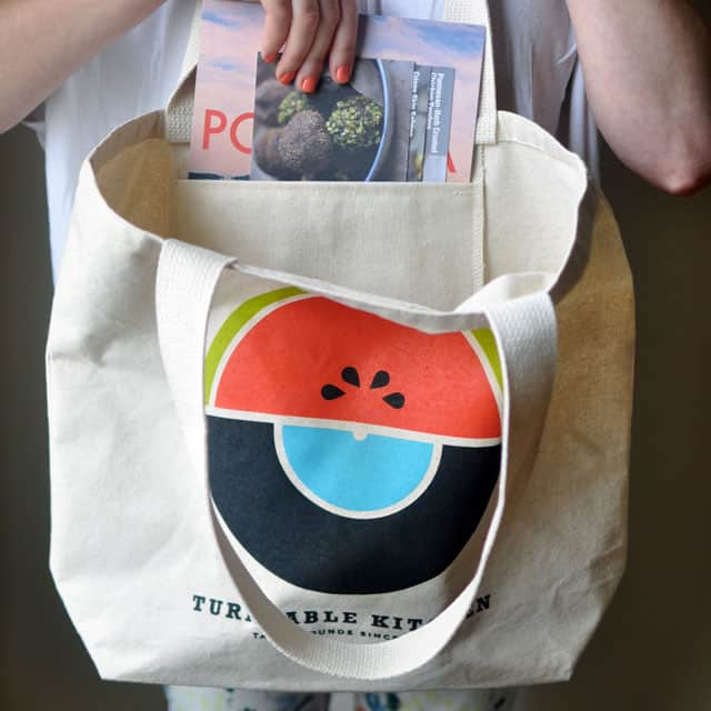 New in the TK Market Watermelon Market Tote with Record Pocket New in the TK Market: Watermelon Market Tote with Record Pocket