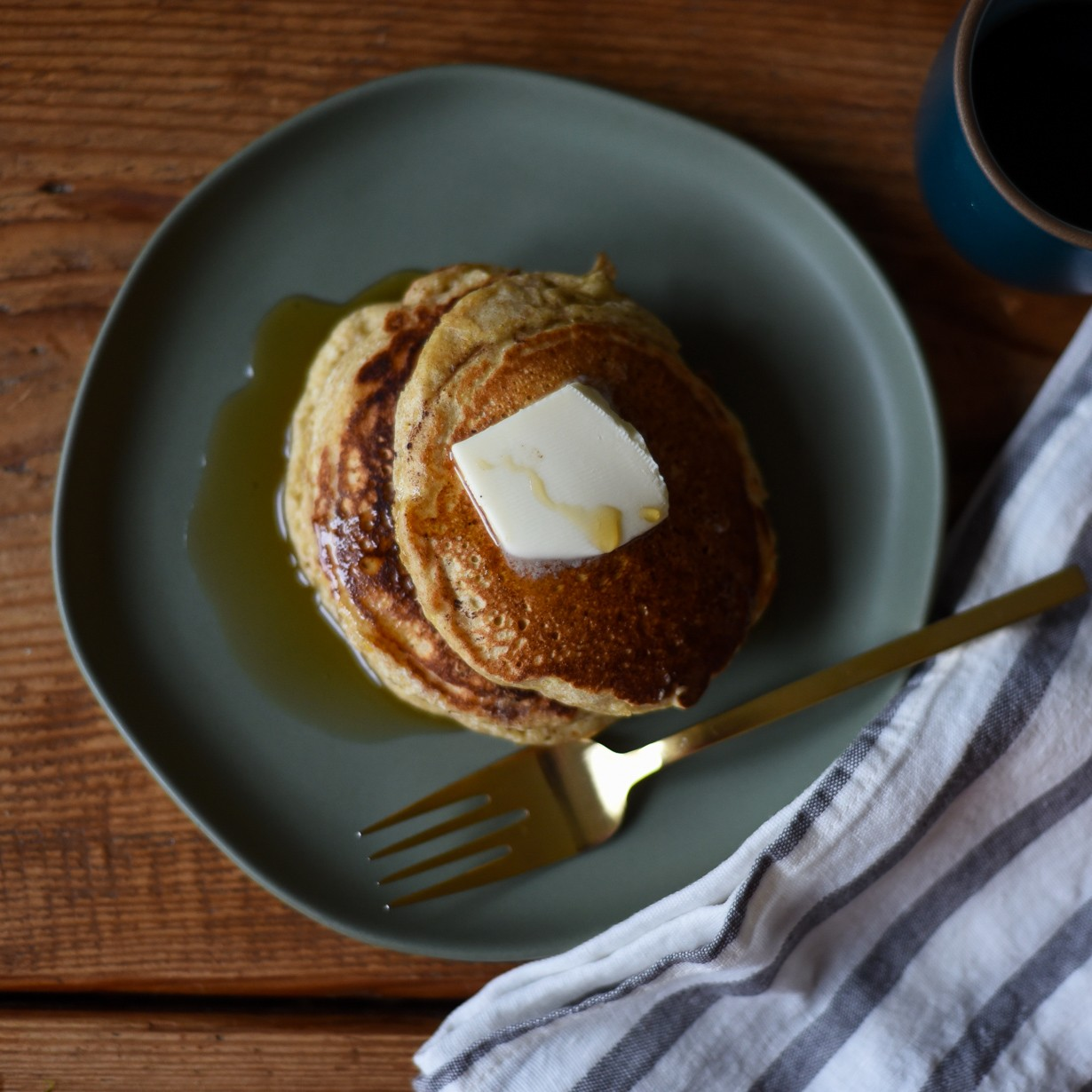 Orange- Ricotta Multigrain Pancakes