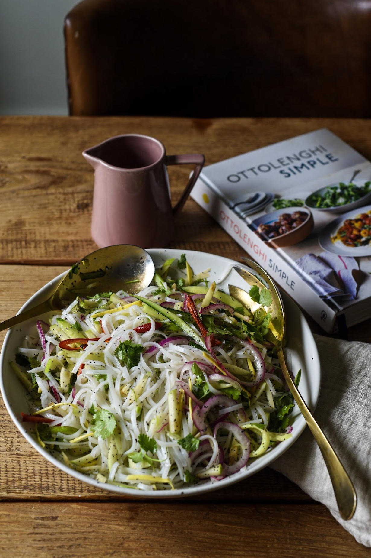 Rice Noodle Salad with Cucumber and Poppy Seeds
