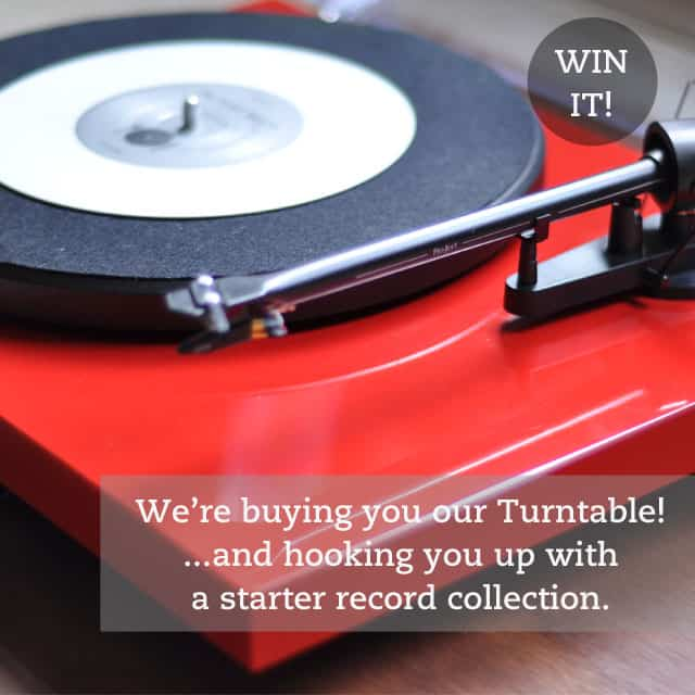 TK giveaway Its an EPIC Giveaway: Win Our Turntable + A Starter Record Collection (Value: Over $500)!