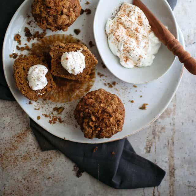 Pumpkin Pistachio Muffins