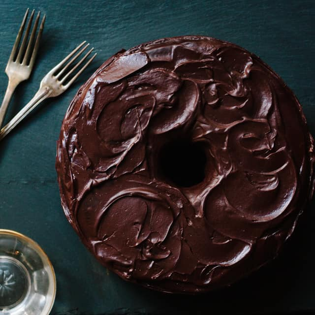 Chocolate Cherry Pound Cake