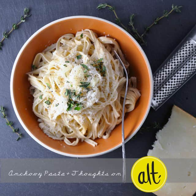 anchovy pasta Spaghetti with Lemony Anchovy Sauce and My Big Takeaway from Alt Summit