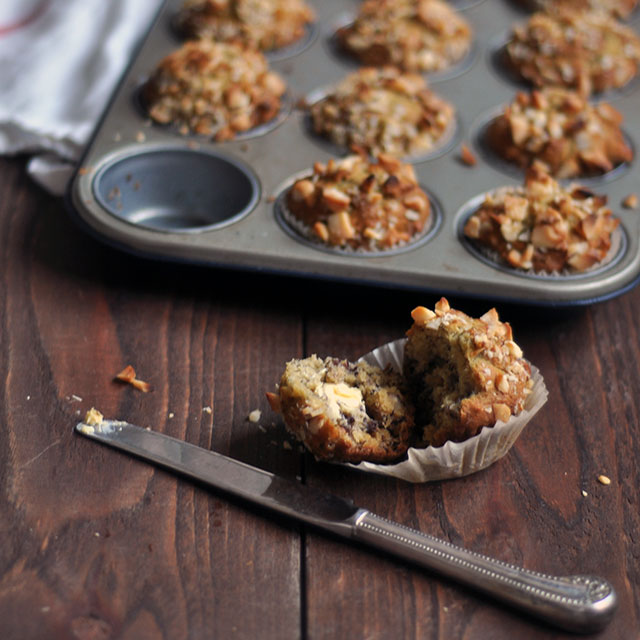 Banana and Macadamia Nut Muffins