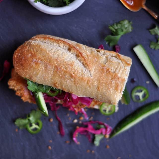 Oven-Fried Chicken Katsu Banh Mi