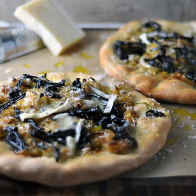 blacktrumpet pizza blurred Black Trumpet, Leek, and Meyer Lemon Pizzettes, Things Worth Fighting For