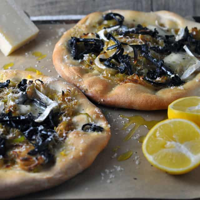 blacktrumpet pizza lead Black Trumpet, Leek, and Meyer Lemon Pizzettes, Things Worth Fighting For