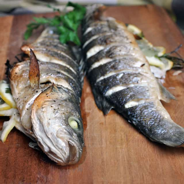 Whole roasted branzino same song over and over for What is branzino fish