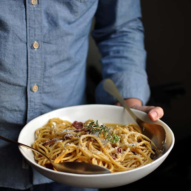 Life-Changing Spaghetti Carbonara and Cooking For Each Other