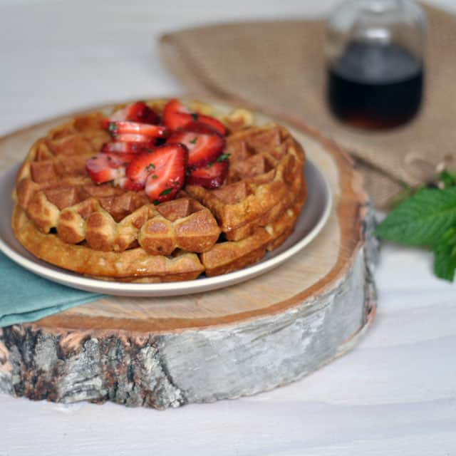 Cardamom and Nutmeg Waffles with Minted Strawberries: Our ...