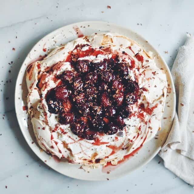 Magical Two Egg Maple Cherry Pavlova + Whole Foods Giveaway